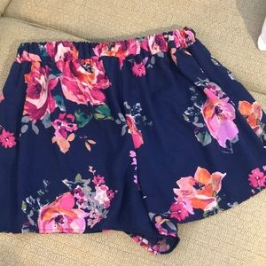 Floral Flow Navy Shorts